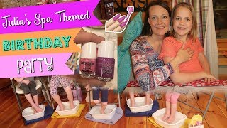 Girl's Spa Themed Birthday Party || 9 Year Old Birthday