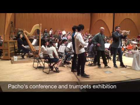 Pacho Flores conference and trumpet exhibition in Tokyo.