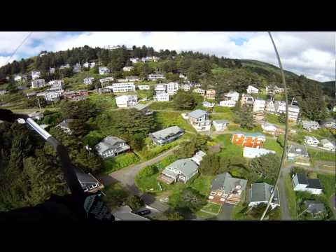 Hang Gliding at Oceanside Oregon 2nd landing