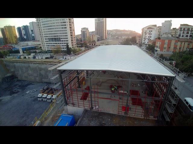 Oyak İnşaat Maltepe Projesi Endüstriyel Çatı Kaplama Havadan Çekim