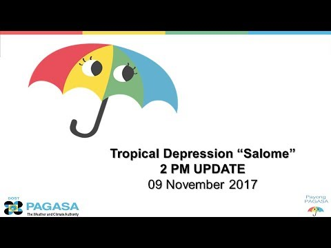 "Press Briefing: Tropical Depression SalomePH"" Thursday 5PM, November 9, 2017"