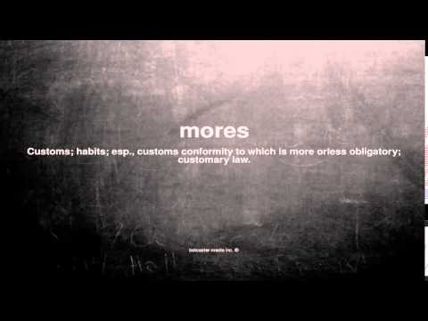 What does mores mean