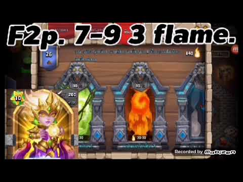 Castle Clash: Insane Dungeon 7-9 F2p.3flame.