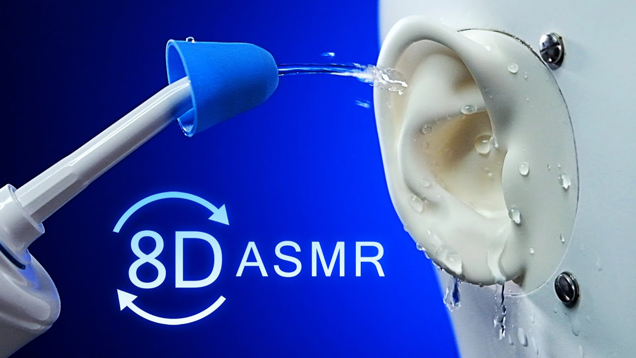 ASMR 8D Ear Cleaning for Sleep | 360° Deep Inner Ear Triggers [No Talking]