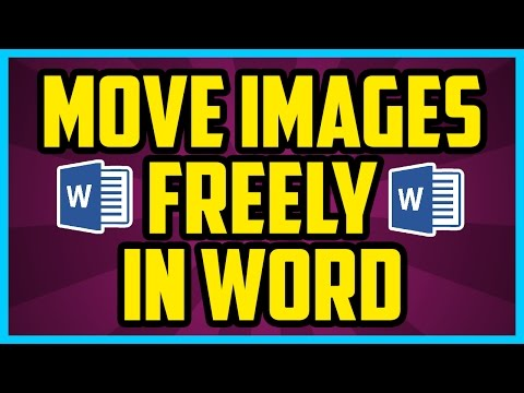 How To Move Images Freely In Microsoft Word - Microsoft Word 2007 / 2010 Moving Images Tutorial.