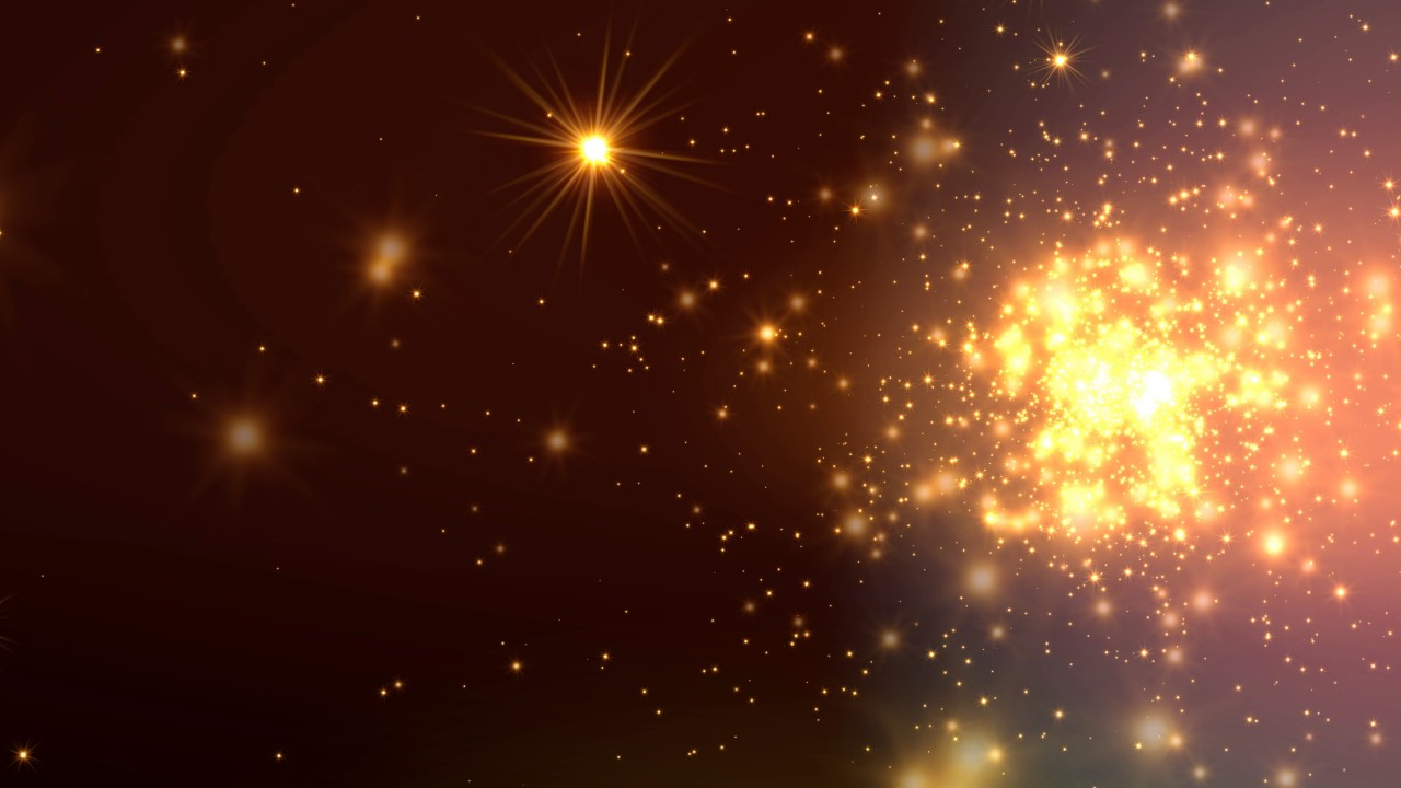 Free Animated Wallpaper Backgrounds 8k 60fps Motion Background Glowing Orange Stars