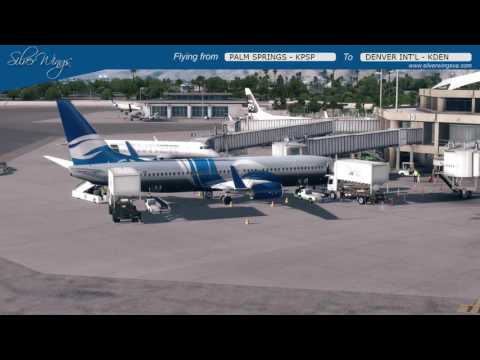 SVG909 Palm Springs Int'l - Denver Int´l - PMDG Boeing 737-800 ( LIVE - ON VATSIM )