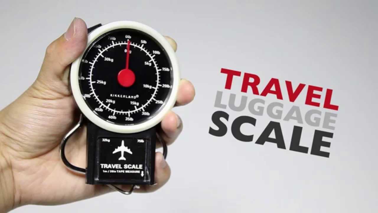 Kikkerland Design Mechanical Luggage Travel Scale