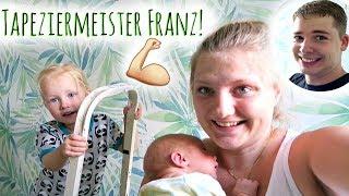 Ein Wunder: Franz tapeziert! | Spaziergang mit Yuna | Familienvlog #121