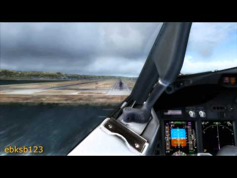 FSX HD 1080p - United 737-800 Cockpit Landing @San Francisco!!! AS REAL AS IT GETS