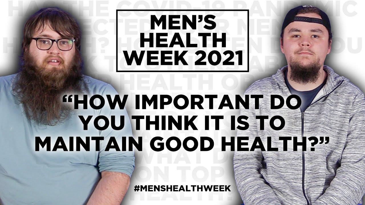 Men answer questions about men's health