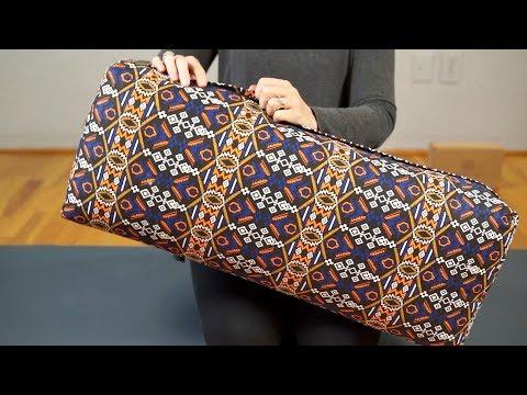 Dusky Leaf Rectangular Yoga Bolster - featuring removable 100% cotton canvas case