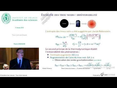 [Conférence] P. VANHOVE - Trous noirs quantiques