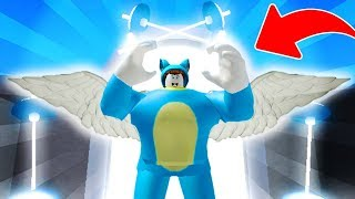 BE BE BE BE BE BE A MILO MUSCULITES GOD IN THE SKY 😍 ROBLOX FUN GYM GAME