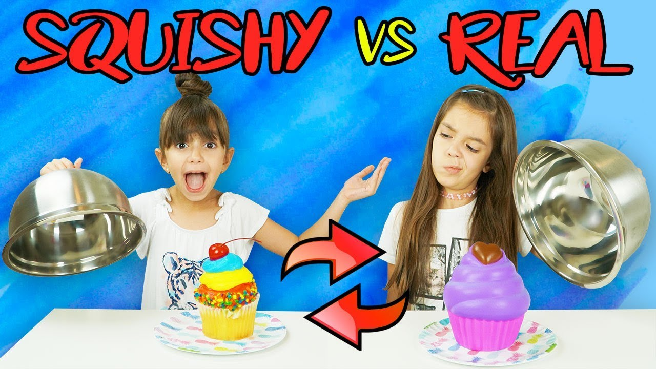 SQUISHY FOOD VS REAL FOOD SWITCH UP CHALLENGE! - YouTube