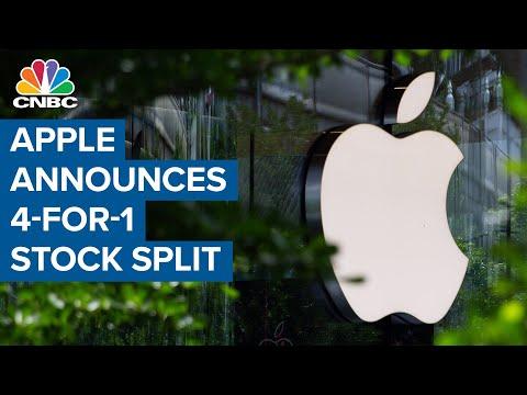 Apple announces four-for-one stock split