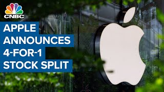 Apple announces 4-1 stock split after blowout earnings