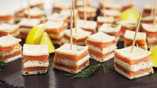 Аппетитно вкусно легко и красиво Слоеные канапе с лососем на праздничный стол от Всегда Вкусно