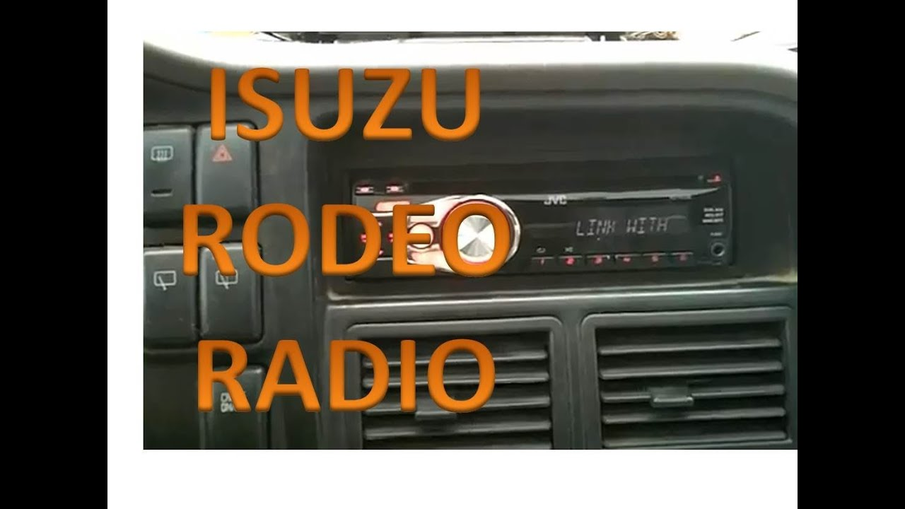 isuzu rodeo radio installation youtube rh youtube com