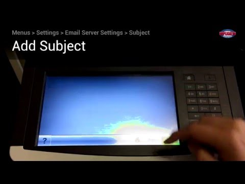 Lexmark Printer's Panel - Scan to Email (Gmail Account)