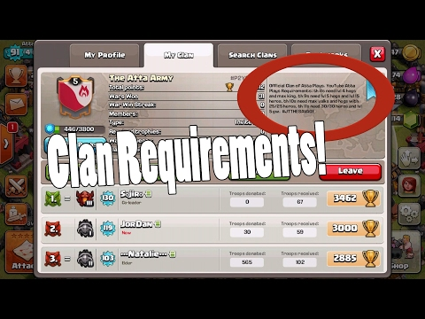 Clash Of Clans | HOW TO GET INTO THE CLAN