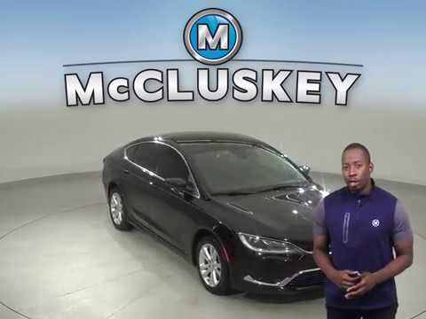 A12959JT Used 2015 Chrysler 200 Limited FWD 4D Sedan Black Test Drive, Review, For Sale -