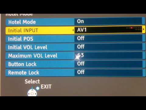 Как изменить автостарт AV, HDMI вместо TV при включении телевизора. Hotel mode. panasonic viera