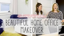 BEDROOM TURNED HOME OFFICE MAKEOVER | BUDGET DECOR