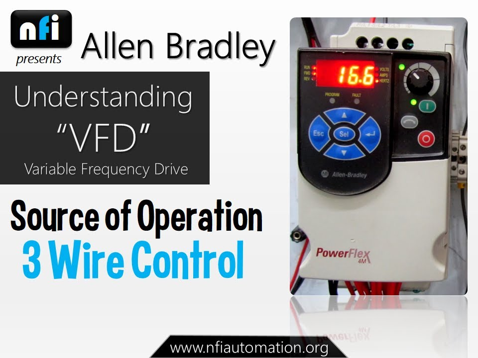 allen bradley vfd powerflex 4m 3 wire control operation youtube Powerflex 40 Wiring Diagram