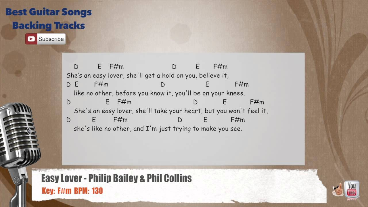 Easy Lover Philip Bailey Phil Collins Vocal Backing Track With