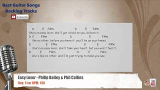 Easy Lover - Philip Bailey & Phil Collins Vocal Backing Track with chords and lyrics