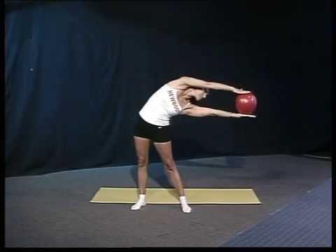 """Фитнес упражнения с мячом на TV ОТБ """"Харков он-лайн день ..."""