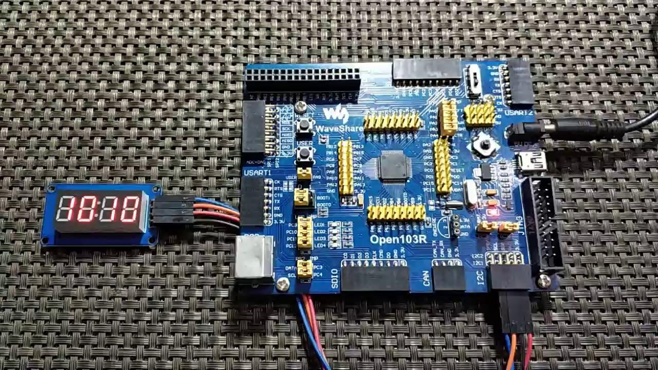 LibStock - TM1637 Seven Segment Driver - STM32 Internal RTCC
