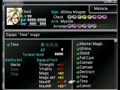 Final Fantasy Vii Materia Setup Youtube