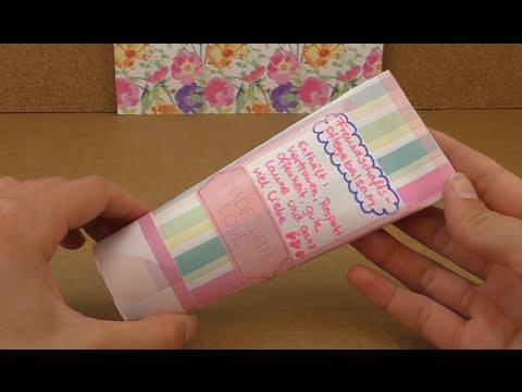 DIY Geschenk für die beste Freundin – Tube aus Pappe zum befüllen – vielseitig verwendbar!