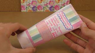 DIY Geschenk für die beste Freundin - Tube aus Pappe zum befüllen - vielseitig verwendbar!