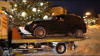 Download Дрифт вокруг Новогодней ёлки. Porsche Turbo S. Монстр 16. Mp3 and Videos