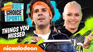 Things You Missed at KCS ft. David Dobrik vs. Kel Mitchell! | #KidsChoiceSports
