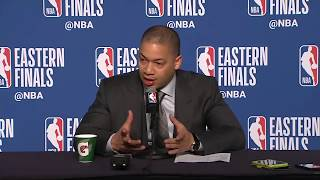 Tyronn Lue postgame interview / Cavaliers vs Celtics Game 3
