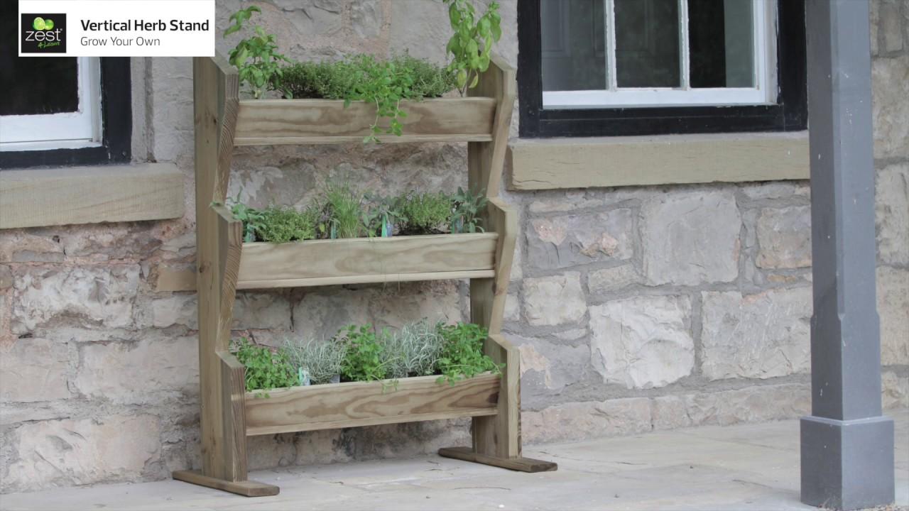 Zest 4 Leisure 3 Tier Stepped Herb Stand Wooden Planter Garden Layered Planter