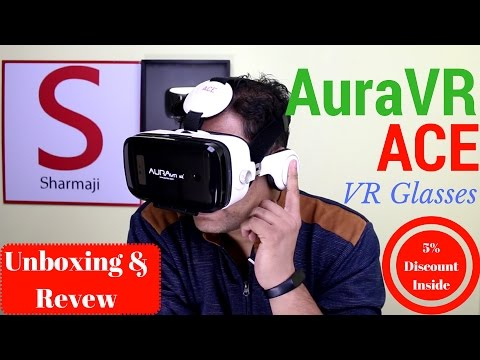 Hindi   Aura VR Ace VR Headset   Virtual Reality Gear   Unboxing   Review   Sharmaji Technical