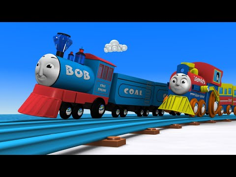 Bob the Train - Choo Choo train - Toy Factory - Cars for kids - Cartoon Cartoon - Toy Train - JCB