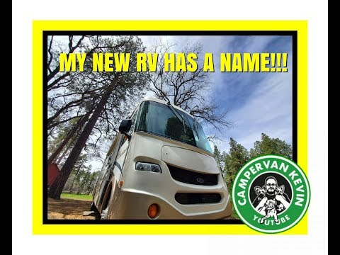 GREAT NEW CAMPSITE! MY RV HAS A NEW NAME AND IT'S.......