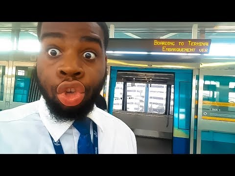 TORONTO AIRPORT TRAIN DOOR ALMOST CRUSHED MY BODY!!