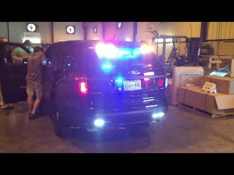 Police Interceptor Utility SUV demo video Featuring Federal Signal