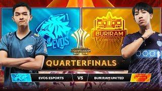 TRỰC TIẾP: BURIRAM UNITED vs EVOS ESPORTS - Tứ Kết AIC 2019 - Garena Liên Quân Mobile
