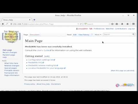 How to Configure and Create Own Article in MediaWiki