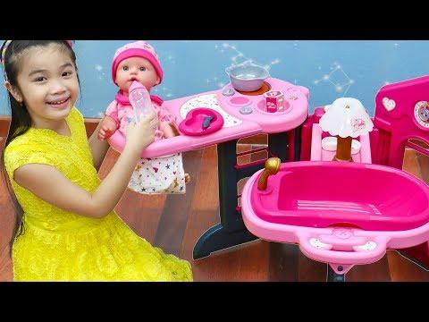 Hana Pretend Play w/ Pink Baby Nursery Doll Kids Toys
