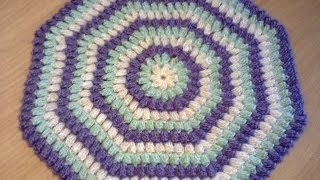 "Как вязать узор ""попкорн"" крючком.  How to Knit pattern ""popcorn"" hook."