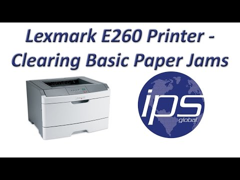Lexmark E260 - Clearing Basic Paper Jams - YouTube